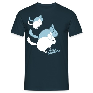 Basisshirt navy mit Chinchilla Pop Art - Männer T-Shirt