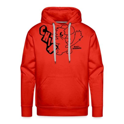 Kapuzenpulli rot mit Comic Chin - Männer Premium Hoodie