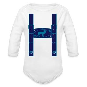 Lederhose Kinder Langarm-Body - Baby Bio-Langarm-Body