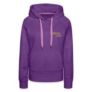 Sweat femme Derval judo logo or - Sweat-shirt à capuche Premium pour femmes