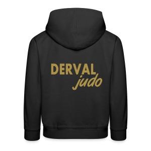 Sweat enfant Derval judo logo or - Pull à capuche Premium Enfant