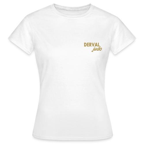 Tee-shirt femme Derval judo logo or - T-shirt Femme