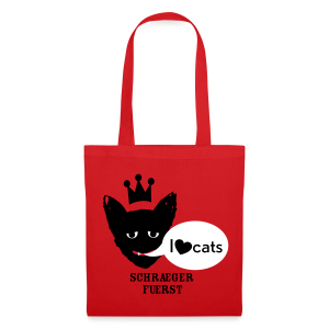 stofftasche, I love cats - Stoffbeutel