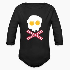 bacon & egg skull Hoodies