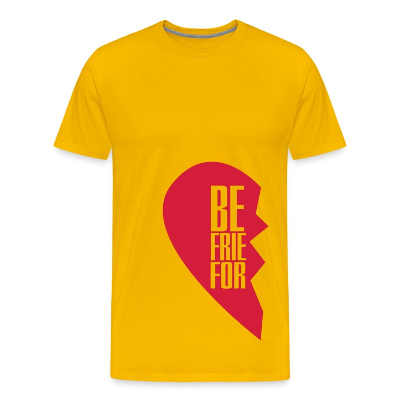 best friends forever left heart side T-shirts - Premium-T-shirt herr