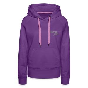 Sweat femme Derval judo logo argent - Sweat-shirt à capuche Premium pour femmes
