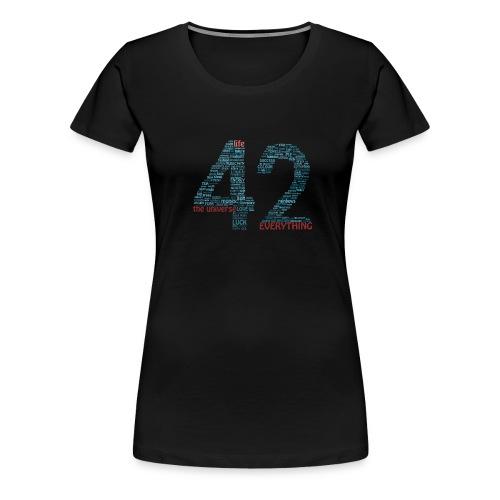 The Meaning of Life (42) Women's T-Shirt - Women's Premium T-Shirt