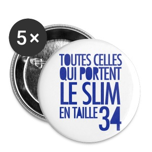 Pack 5 Badges 56mm - Slim - Badge grand 56 mm