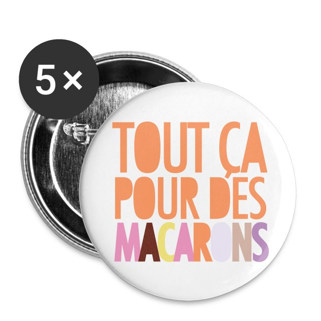 Pack 5 Badges 56mm - Macarons