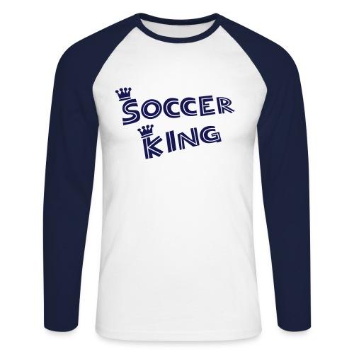 Soccer King - Männer Baseballshirt langarm