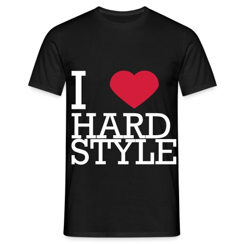 I Love Hardstyle Tee - Mannen T-shirt