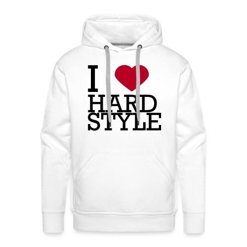 I Love Hardstyle Sweater - Mannen Premium hoodie