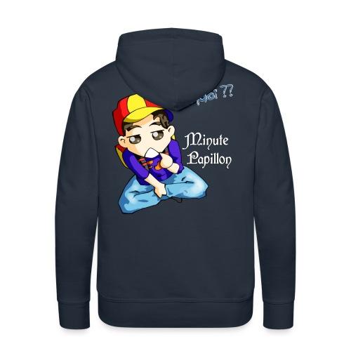 Mini-Kriss - Pourquoi -Sweat - Sweat-shirt à capuche Premium pour hommes