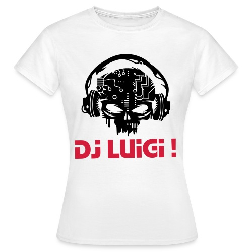 DJ Luigi - Women'S Standard T-Shirt (With Skull Logo) - Women's T-Shirt