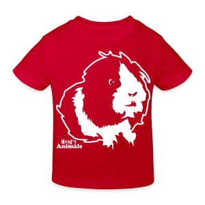 Kinder Bio-T-Shirt rot mit Elvis - Kinder Bio-T-Shirt
