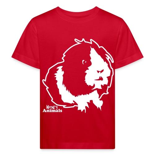 Kinder Bio-T-Shirt rot mit Elvis - Kinder Bio-T-Shirt