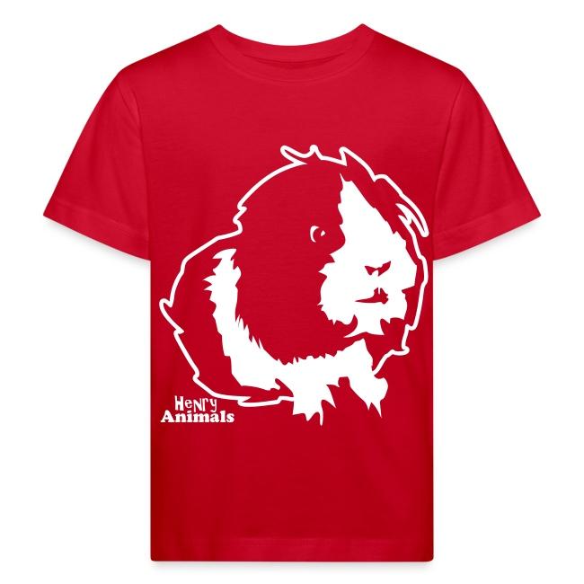 Kinder Bio-T-Shirt rot mit Elvis