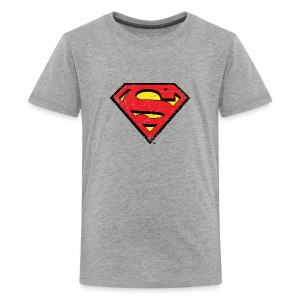 Superman S-Shield Used Look 1 Teenager's T-Shirt - Teenager Premium T-shirt