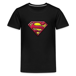 Superman S-Shield Used Look 2 Teenager T-Shirt - Teenager Premium T-Shirt