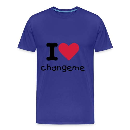 I heart changeme - Men's Premium T-Shirt