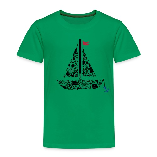 Segelboot - Kinder Premium T-Shirt