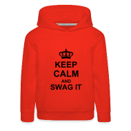 Sweaters ~ Kinderen trui Premium met capuchon ~ keep calm and swag it