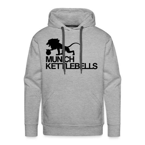 Munich Kettlebells Hoodie grau / Logo schwarz - Männer Premium Hoodie