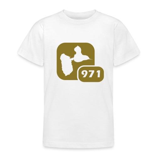 T-Shirt Enfant V3 Gwada Blanc / Flex Or - T-shirt Ado