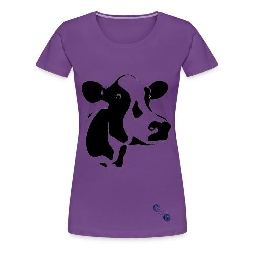 Womans COW TShirt - Women's Premium T-Shirt