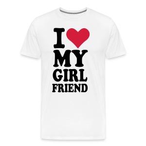 T-shirt, Love girlfriend (Available in colours) - Men's Premium T-Shirt