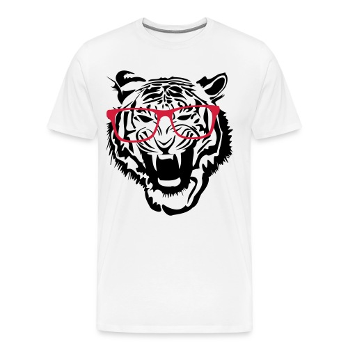 Nerd Tiger - Men's Premium T-Shirt