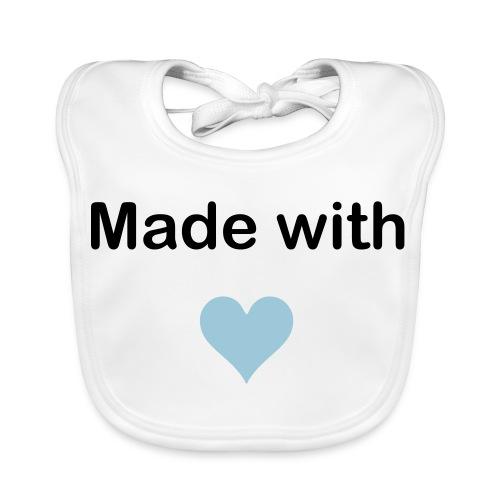 ''Made with LOVE'' Slabbetje Baby - Bio-slabbetje voor baby's