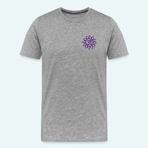 Men's Purple Logo T-Shirt - Star Front - Men's Premium T-Shirt