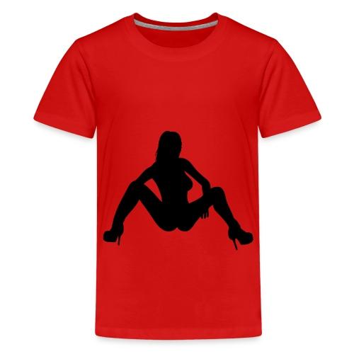 Maglietta Donna con le gambe aperte - Maglietta Premium per ragazzi