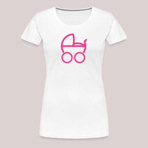 Baby girl Kinderwagen baby buggy - Frauen Premium T-Shirt