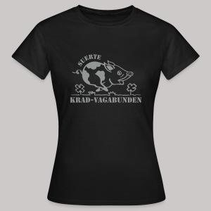 T-Shirt Damen: Glücksschwein (silberner Aufdruck) - Frauen T-Shirt