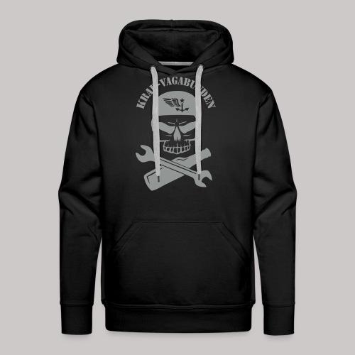 Kapuzenpulli Männer - Totenkopf, Pulle & Schraubenschlüssel (grauer Aufdruck) - Männer Premium Hoodie