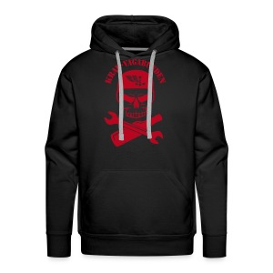 hoodie - men - wrench & bottle - red print - Men's Premium Hoodie