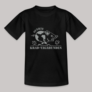 Teenager T-Shirt - Glücksschein (silberner Aufdruck) - Teenager T-Shirt