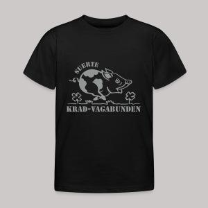 Kinder-T-Shirt - Glücksschwein (silberner Aufdruck) - Kinder T-Shirt