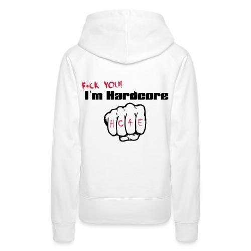 I'M HARDCORE/HC4E- Hoodie-white-woman - Frauen Premium Hoodie