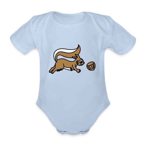 Eichhörnchen - Babybody - Baby Bio-Kurzarm-Body