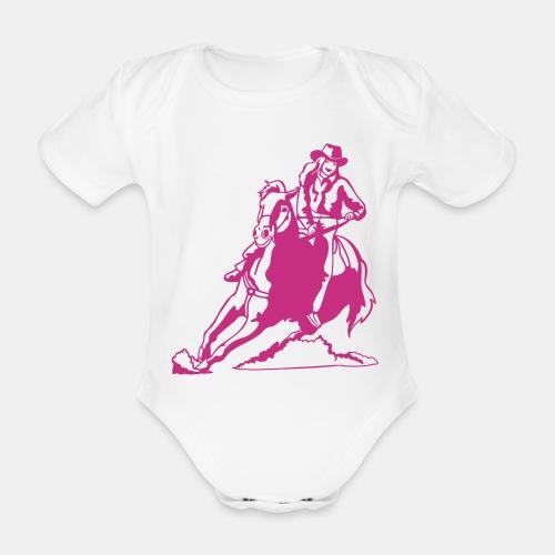 Riding Cowgirl Babybody - Baby Bio-Kurzarm-Body