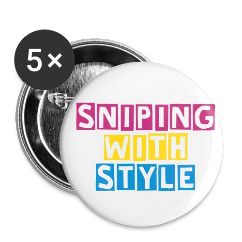 Sniping with style FOTECLAN - Buttons/Badges lille, 25 mm (5-pack)
