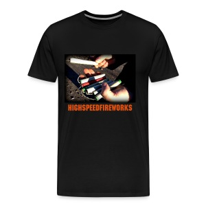 Highspeed Black - Vintage Firecrackers - Männer Premium T-Shirt