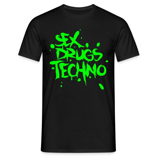 Sex,Drugs&Techno - Männer T-Shirt