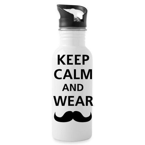 Keep Calm Mr Moustache - Water Bottle