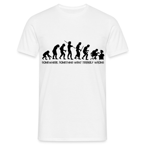 Evolution of man - Herre-T-shirt