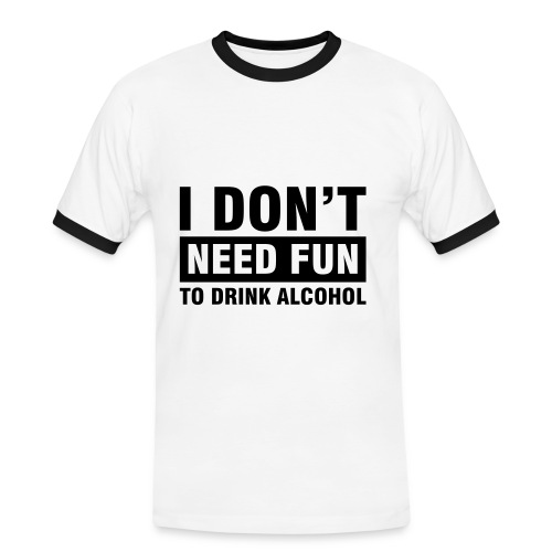 Don't need fun - Herre kontrast-T-shirt