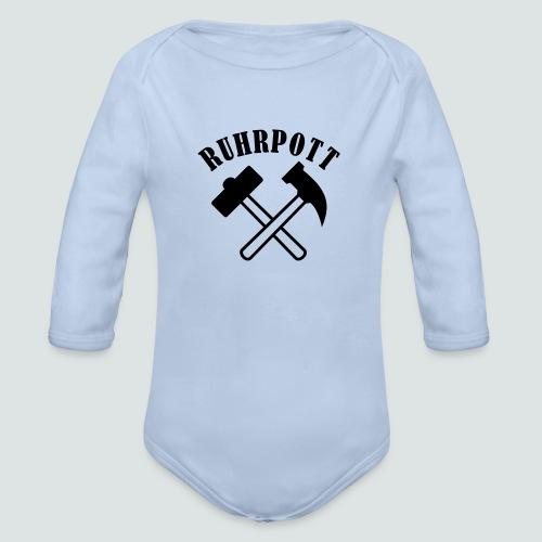 Ruhrpott Hammer, Baby Langarm Body  - Baby Bio-Langarm-Body